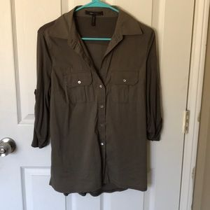 BCBG Sage Button Down Shirt